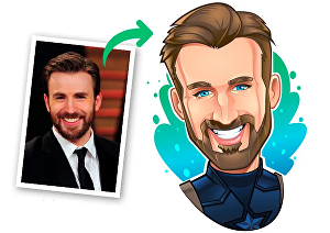 I will draw a cool avatar, cartoon, caricature of your photo