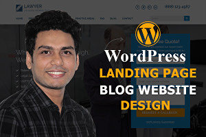 I will create landing page, blog site, WordPress website