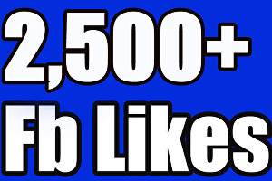 I will give you 2,500+ Facebook likes