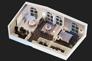 I will create HIgh-Quality  3D Floor plan for Only