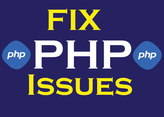 fix php issues or add new features to your existing website