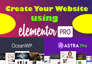 I will create a WordPress website using Elementor Pro & Astra Pro in 24 hours