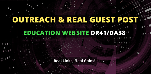 I will post a do-follow guest post on 41 DR education website
