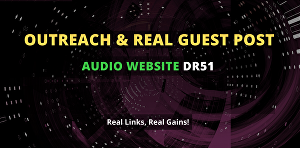 I will post a do-follow guest post on 51 DR audio website