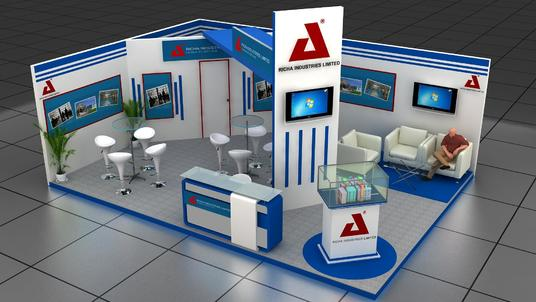design your 3d exhibition booth, kiosk