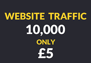 I will send 10,000 traffic in your website