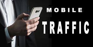 I will drive  organic mobile traffic to your website with extras