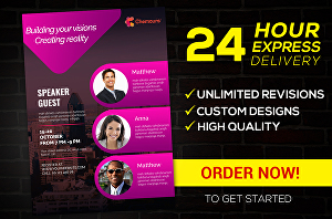 I will design professional flyers and brochures in 24 hours