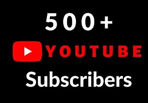I will provide 500+ youtube subscribers lifetime guaranteed