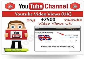 I will give 2500+ Youtube High-Quality Human UK views