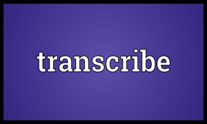 I will transcribe your videos and audios