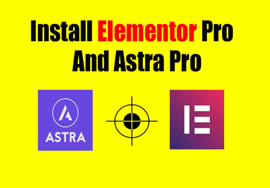 Install elementor pro and astra pro with license keys for ...