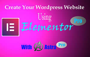 I will design wordpress website or customize using elementor and astra pro
