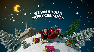 I will create this amazing Merry Christmas Greeting video
