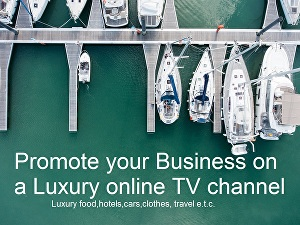 I will  Advertise your Business on a Luxury online TV Channel that generates up 150,000 viewers