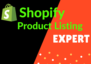 I will do 150 product listing into Shopify store