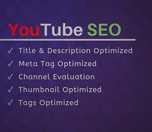 I will do effective YouTube video SEO for your ranking