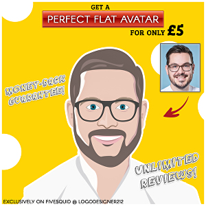 I will Create a Stunning Flat Avatar Of You
