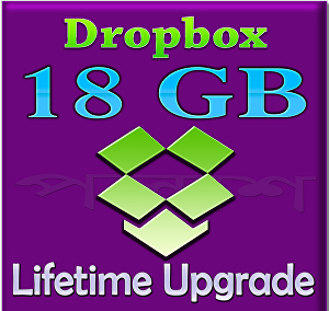 I will upgrade your dropbox space up to 18GB for lifetime