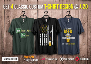 I will design quality t shirts for your amazon merch, teespring etc