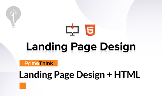 Create Professional Landing Page Design + HTML