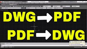 I will Convert Your PDF or Image into 2D AutoCAD file