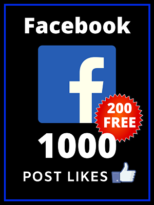 I will add 1000 likes to your Facebook Post