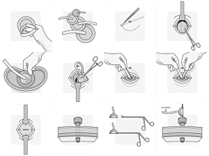 I will draw vector line art line drawing, product instruction manual