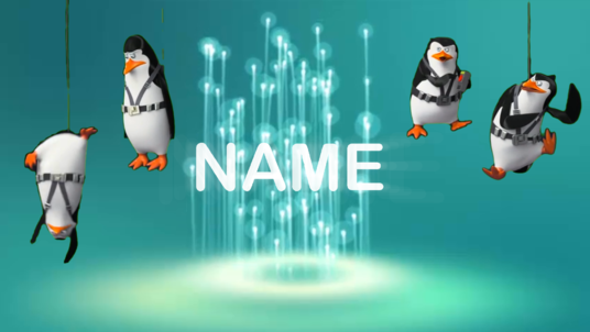 do an amazing video with your text or name  dancing with a penguin