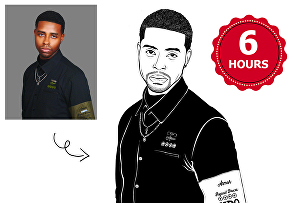 I will Do Line Art illustration Of Your Photo for you
