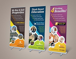 I will Design Awesome Roll Up Banner
