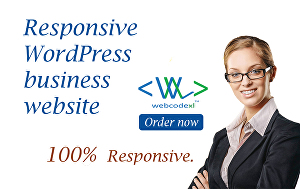 I will create for you responsive business WordPress website