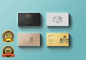 I will do unique luxury business card design in 24 hours