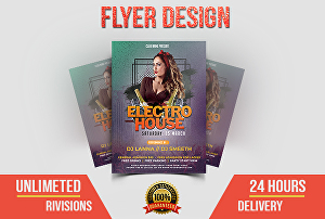 I will create an outstanding flyer and poster for improving your business