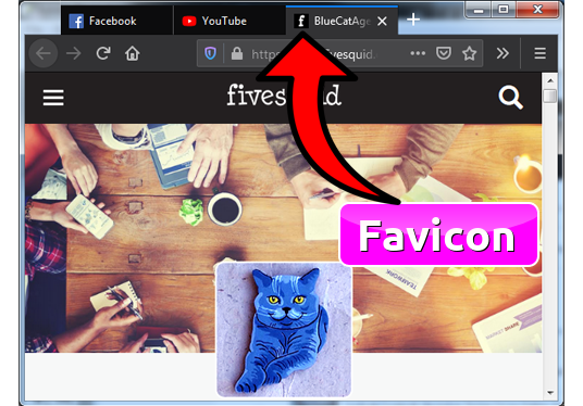 add Favicon for your website to give it a Professional look