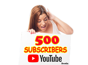 I will Add for You 500 Real YouTube Subscribers Non Drop
