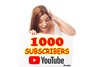 I will Add for You 1000 Real YouTube Subscribers Non Drop