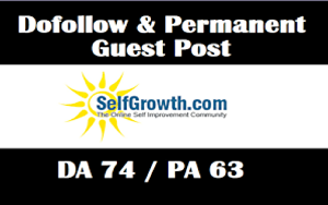 I will Write and Publish A Guest Post On Selfgrowth DA74 with Dofoll0w Backlink