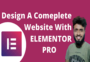 I will design a complete website using elementor