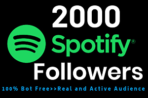 I will provide You High quality 2000+ Spotify Followers