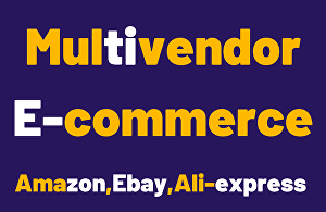 I will design your multivendor ecommerce website within 1 day