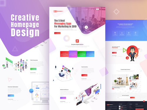Design a 2 page website with a brand new domain & hosting