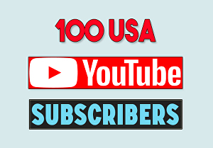 I will provide 100 USA youtube subscribers