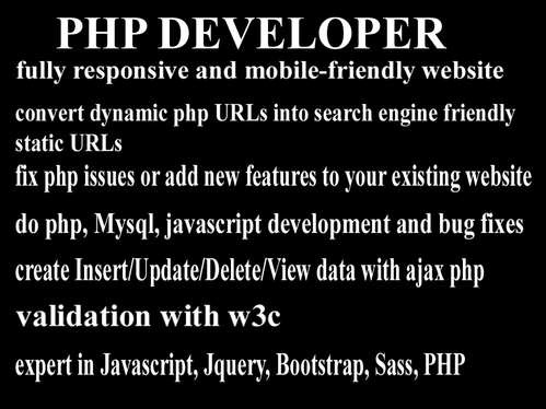 build an amazing and professional PHP website