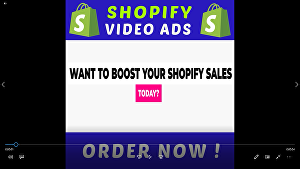 I will design shopify facebook video ads for dropshipping products