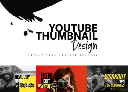 design a thumbnail for your channel
