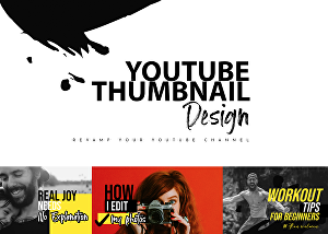 I will design a thumbnail for your channel