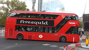 I will put your logo or text on this bus video