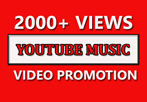 I will do fast organic youtube music video promotion