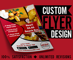 I will Design flyer